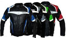 Blouson veste racing de pour moto en cuir avec protections