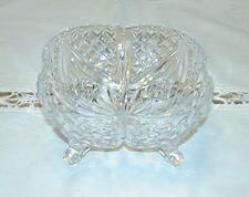 GORGEOUS HEAVY LEAD CRYSTAL FOOTED CANDY DISH/VANITY BOWL-EUC
