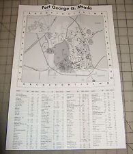 "Fort George G. Meade, Maryland Folded HOUSING Area 11"" x 15"" Map"