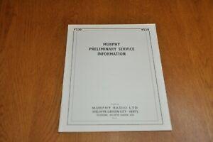 Murphy V530 Monochrome Television Receiver Preliminary Service Manual