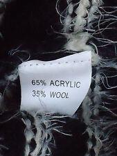 SWEET GIRL Fluffy35%WoolBlendStripedL/sKnit SzSM NWoT