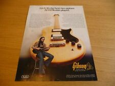 More details for gibson l6 -s guitar al di meola 70's  full page advert size  20cm/28cm