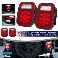 LED Tail Lights Stop Reverse Rear Brake Turn Lamps For Jeep Wrangler TJ CJ 76-06