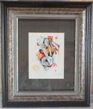 DE Berroeta daté 81 gouache composition abstraite peinture tableau n°1