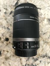 Canon EF-S 55-250mm f/4.0-5.6 IS Lens  with Stablilizer