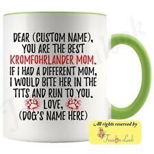 Personalized Kromfohrlander Dog Mom Coffee Mug, Kromi Dog Owner Women Gift