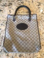 Gucci Vintage Brown Monogram Shopper Tote Bag Purse