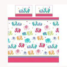 patchwork éléphant Set Housse de couette double enfants filles coloré rose
