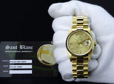 ROLEX 18kt Gold 36mm Mens Day Date President Champagne Diamond 18238 SANT BLANC