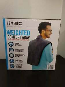 Homedics Weighted Comfort Wrap With Vibration And Soothing Heat NIB