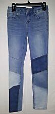 Girls Hudson Skinny Light Wash Jeans with Patches Size 8