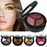 3 Colors Smoky Eyeshadow Palette Beauty Makeup Shimmer Matte Gift Eye Shadow UK