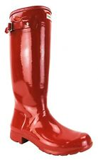 Hunter Red Rubber Original Tall Gloss Rain Boots