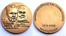 Médaille/ Medal- Union Nationale des Combattants, 90°Ans. 1918-2008. Bronze