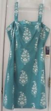 NEW TAG! JONES NEW YORK (SIGNATURE) 16 SEAFOAM-GREEN WHITE FLORAL DRESS #1418XLG