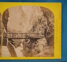 1860s Suisse Stereoview 58 Gorge De Trient Martigny Alpine Club William England