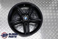 """*BMW E81 E87 Black Matt Rear Alloy Wheel Rim 18"""" 8,5J M double Spoke 208 7839305"""