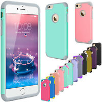 """For iPhone 6S 4.7"""" / 6S plus 5.5""""Hybrid Soft Slim Rugged Hard Impact Case Cover"""