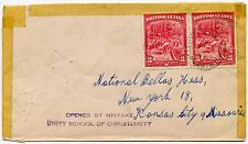 BRITISH GUIANA 1947 OPENED by MISTAKE HANDSTAMP UNITY SCHOOL of CHRISTIANITY USA