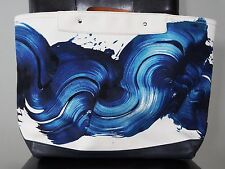 COACH x JAMES NARES Blue White Watercolor Canvas Oversized Tote 164 / 175