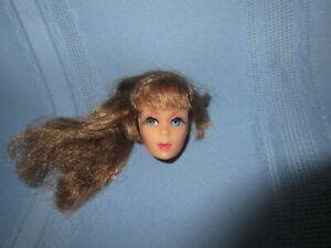 vintage mod Barbie TNT talking Barbie doll head only blue eyes brunette