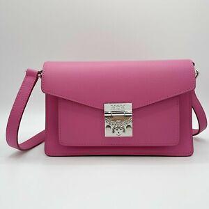 MCM Patricia Sugar Pink Small Leather Crossbody Shoulder Bag MWR9APA16QS001