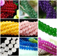Natural 4mm 6mm 8mm Multi-color Gemstone Spacer Round Loose Beads 15''