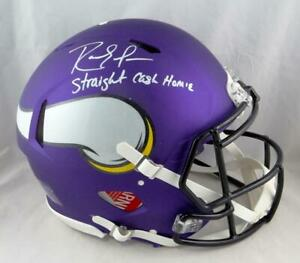 Randy Moss Autographed Vikings F/S Speed Authentic Helmet w/Insc- Beckett W Auth