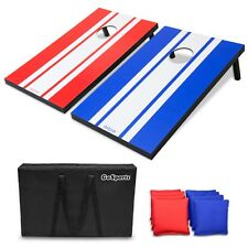 GoSports Classic Cornhole Bean Bag Toss Set Includes 8 Bags Carry Case and Rules