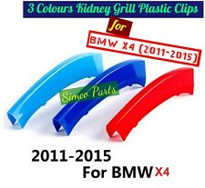 3D 3 Colours Kidney Grille Plastic Cover Strips Clips BMW X4 2011-2015