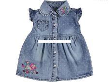 Baby Mädchen Jeanskleid, Kleid Gr. 74,80,86,92