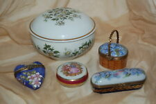 Limoges France Trinket Boxes Collection Of 5