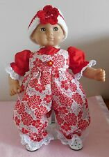 Bitty Baby Dolls Clothes Red Flower Romper Fits Bitty Baby/Berenguer 15-17