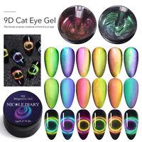 NICOLE DIARY 5ml 9D Cat Eye Magnetic Gel Polish Soak Off Nail Art UV Gel Varnish