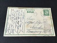 Bavaria 1914  used stamps post card Ref R32014