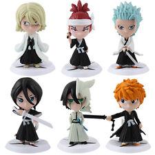 6x Bleach Ichigo/ Rukia/ Kisuke/ Toushirou/ renji/ Ulquiorra PVC Figure Set