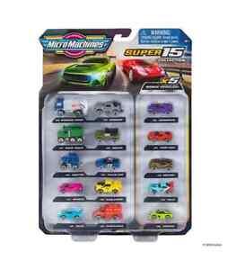 MICRO MACHINES Super 15 Pack Toy Car Collection Features 5 BONUS Vehicles BNIB