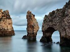 FOTO FLORA Lagos Portogallo ROCK Impila erosione temporale ARCH stampa bmp10114