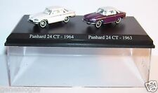 COFFRET ATLAS DUO UH HO 1/87 2 METAL PANHARD 24CT 1964 24 CT BICOLORE 1963 BOX