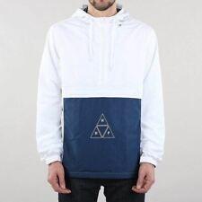 HUF Men's New Peak 3.0 Nylon Pullover Anorak Jacket White Blue