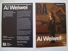 AI WEIWEI ....  Royal Academy Exhibition Flyer