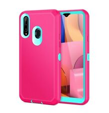Jelanry Samsung A20S Case, Heavy Duty Armor Dual Layer Protective Shell...