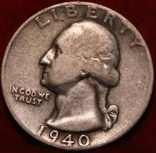 1940-D Mint Silver Washington Quarter