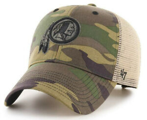 WASHINGTON REDSKINS NFL '47 BRAND MVP CAMO STRAPBACK HAT CAP NEW! RETIRED LOGO