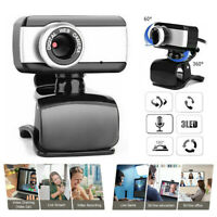 HD USB 2.0 Webcam With Microphone Laptop Desktop PC Computer Web Camera+Mic th3a