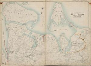 1909 HUNTINGTON LLOYD NECK NORTHPORT EATON NECK NEW YORK ATLAS MAP PLAT