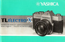 YASHICA TL ELECTRO X SLR 35mm CAMERA OWNERS INSTRUCTION MANUAL