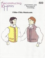 Schnittmuster RH 809: 1780s-90s Waistcoats