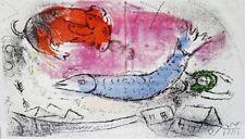 Marc Chagall - Lassaigne - The Blue Fish (M.198) - Original Mourlot Lithograph