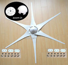 "6 x 53"" Wind Turbine Generator Blades + Hub + Nose Cone 6 socket fit Air-X 403"